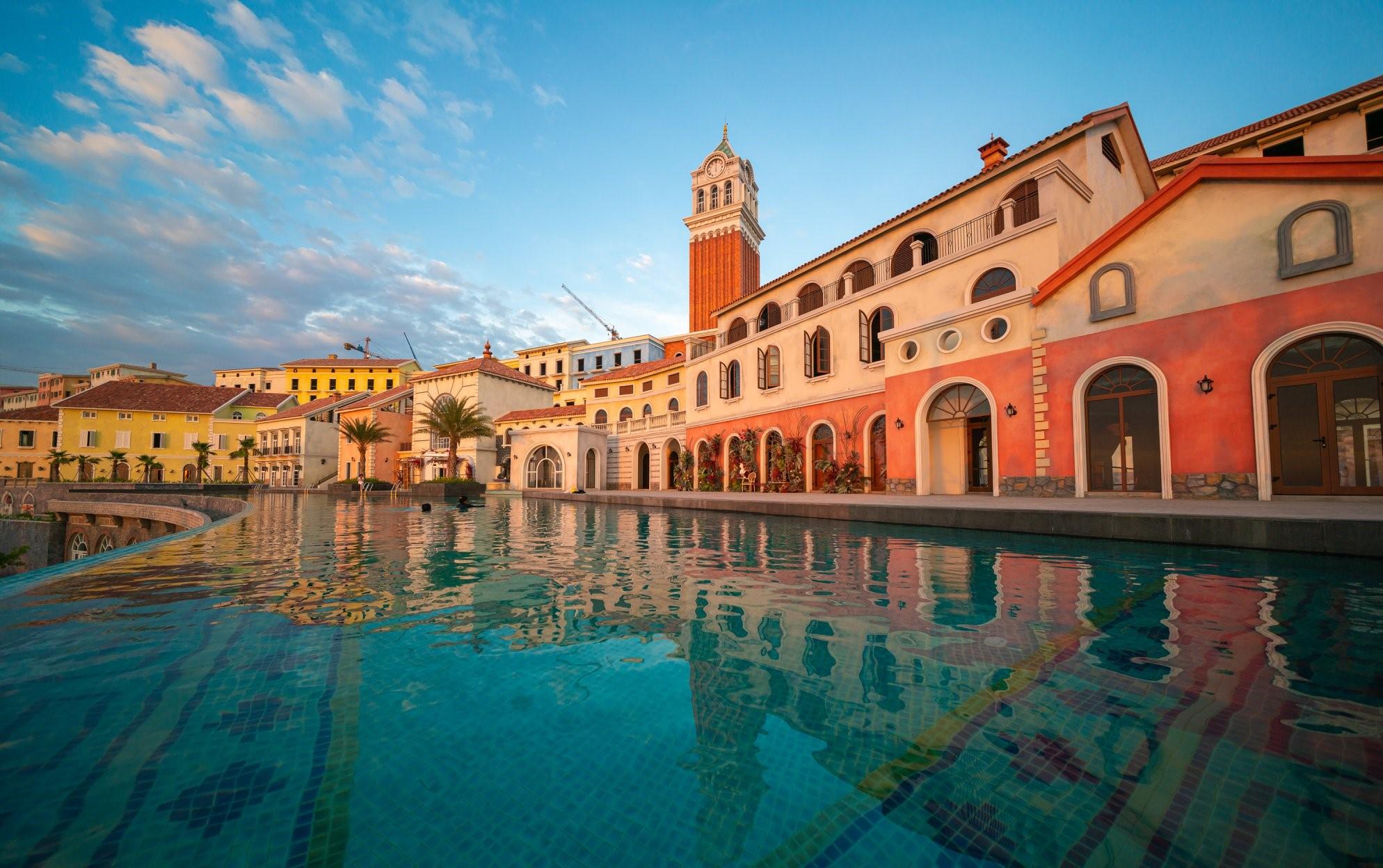 Một góc của Thị trấn Địa Trung Hải tại Nam Đảo Ngọc Phú Quốc